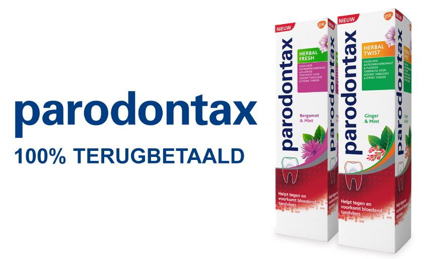 Parodontax tandpasta 100% terugbetaald bij Kruidvat