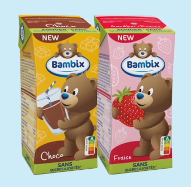 Gratis Bambix choco of aardbei groeimelk