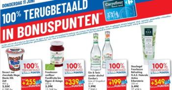 100% terugbetaalde producten bij Carrefour op 11 juni 2020