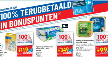 100% terugbetaalde producten bij Carrefour op 18 juni 2020
