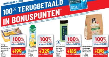 100% terugbetaalde producten bij Carrefour op 4 juni 2020
