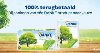 DANKE toiletpapier of keukenpapier 100% terugbetaald met myShopi