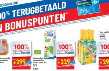 100% terugbetaalde producten bij Carrefour op 9 juli 2020