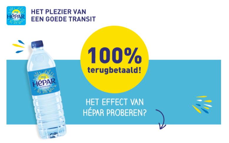Hépar water 100% terugbetaald