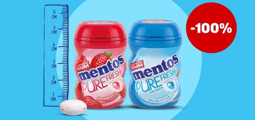 Mentos Gum 100% terugbetaald met myShopi