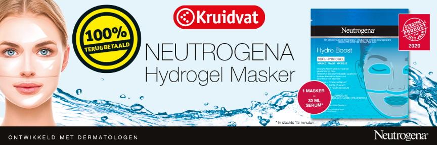 Neutrogena Hydrogel gezichtsmasker 100% terugbetaald bij Kruidvat