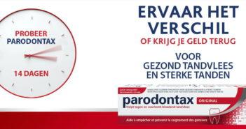 Parodontax tandpasta 100% terugbetaald