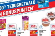 100% terugbetaalde producten bij Carrefour op 1 oktober 2020