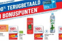 100% terugbetaalde producten bij Carrefour op 24 september 2020