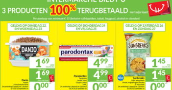 100% terugbetaalde producten bij Intermarché in september 2020