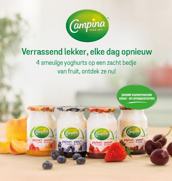 Campina yoghurt op fruit 100% terugbetaald met Shopmium