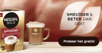 Gratis staal koffie Nescafé Cappuccino