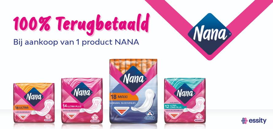 Nana maandverbanden 100% terugbetaald met myShopi
