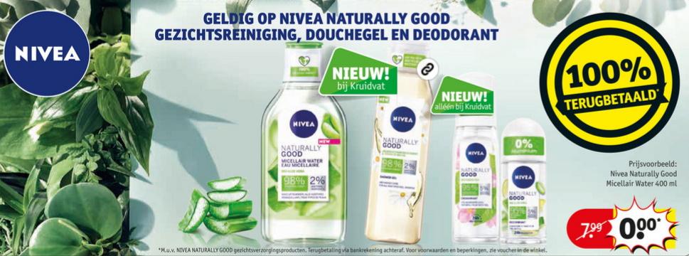 Nivea Naturally Good 100% terugbetaald bij Kruidvat