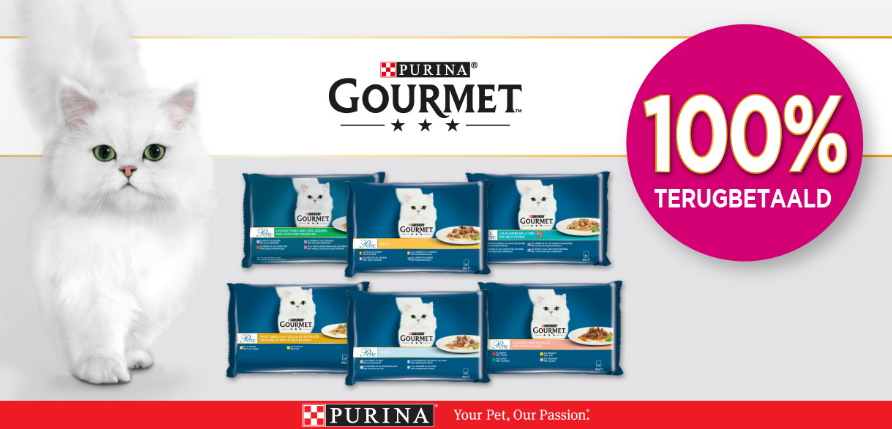 Purina Gourmet Perle kattenvoeding 100% terugbetaald met myShopi