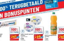 100% terugbetaalde producten bij Carrefour op 15 oktober 2020