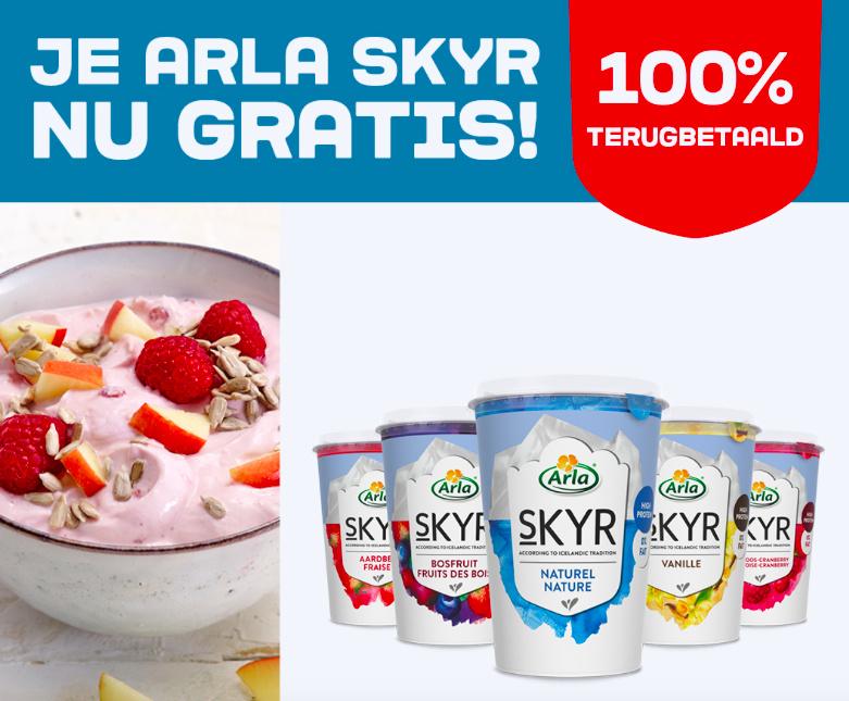Arla Skyr yoghurt 100% terugbetaald