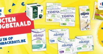 Cashbackdays: 100% terugbetaalde producten bij Carrefour