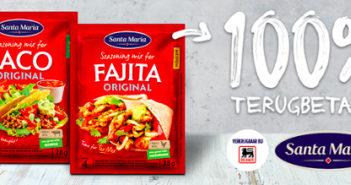 Santa Maria mix van kruiden voor taco of fajita 100% terugbetaald