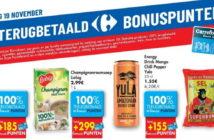 100% terugbetaalde producten bij Carrefour op 19 november 2020