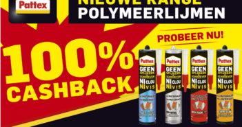 Pattex Geen spijkers geen schroeven polymeerlijm 100% terugbetaald