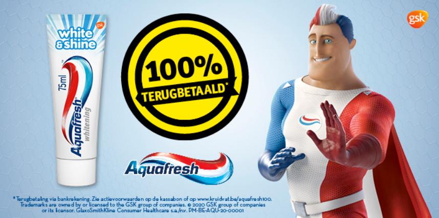 Aquafresh White and Shine tandpasta 100% terugbetaald bij Kruidvat
