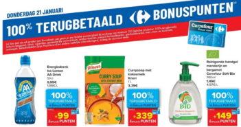 100% terugbetaalde producten bij Carrefour op 21 januari 2021