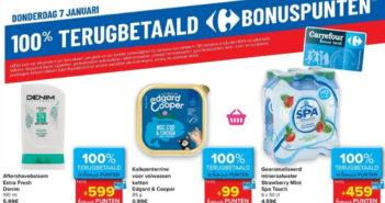 100% terugbetaalde producten bij Carrefour op 7 januari 2021