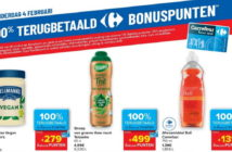 100% terugbetaalde producten bij Carrefour op 4 februari 2021