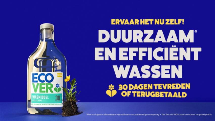 Ecover wasmiddel tevreden of 100% terugbetaald