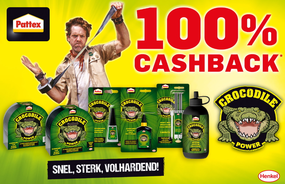 Pattex Crocodile Power 100% terugbetaald