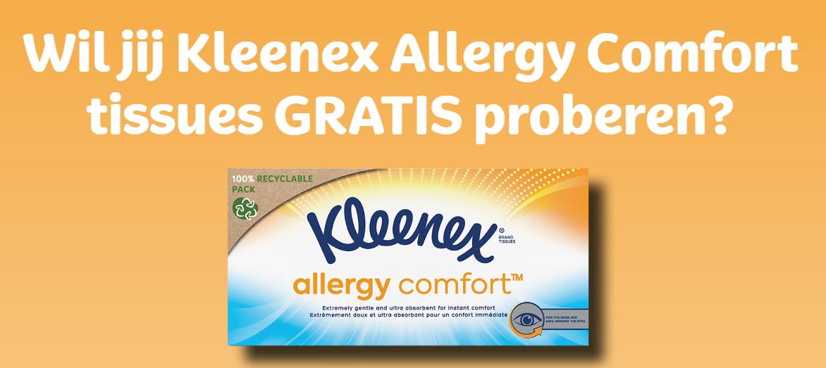 Gratis Kleenex Allergy Comfort zakdoeken