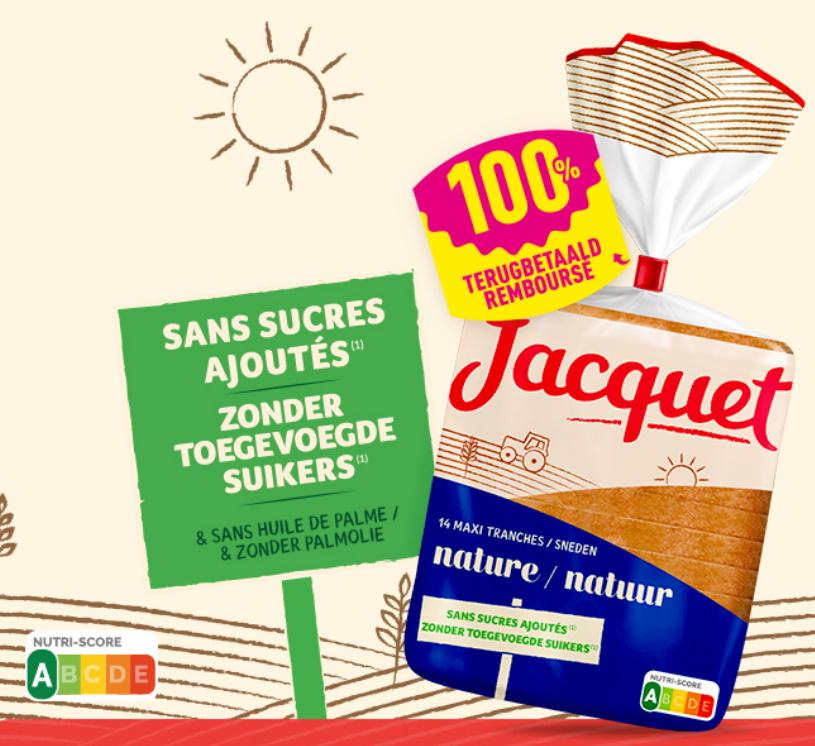 Jacquet brood 100% terugbetaald