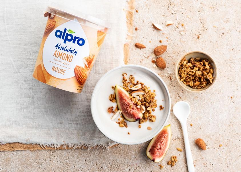 Plantaardig yoghurt Alpro Absolutely Amandel Natuur 100% terugbetaald