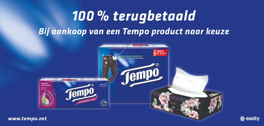 Tempo zakdoeken 100% terugbetaald met myShopi