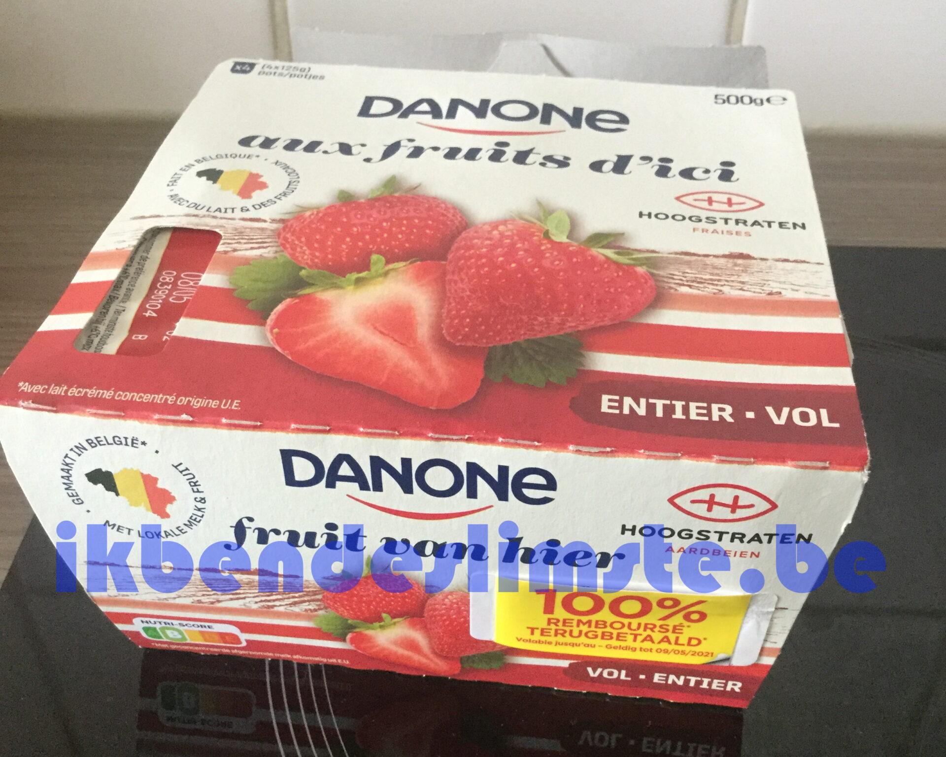 Danone yoghurt fruit van hier 100% terugbetaald