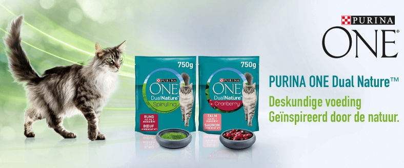 Gratis staal Purina One Dual Nature kattenvoeding