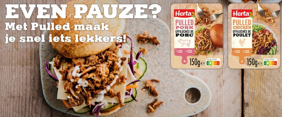 Herta Pulled Pork of Chicken 100% terugbetaald
