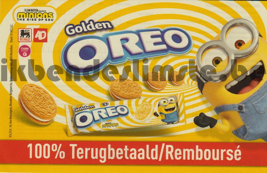 Oreo Golden Minions koekjes 100% terugbetaald
