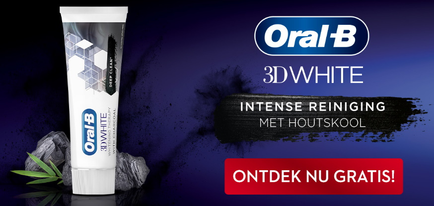 Oral-B 3D White Charcoal Therapy tandpasta 100% terugbetaald