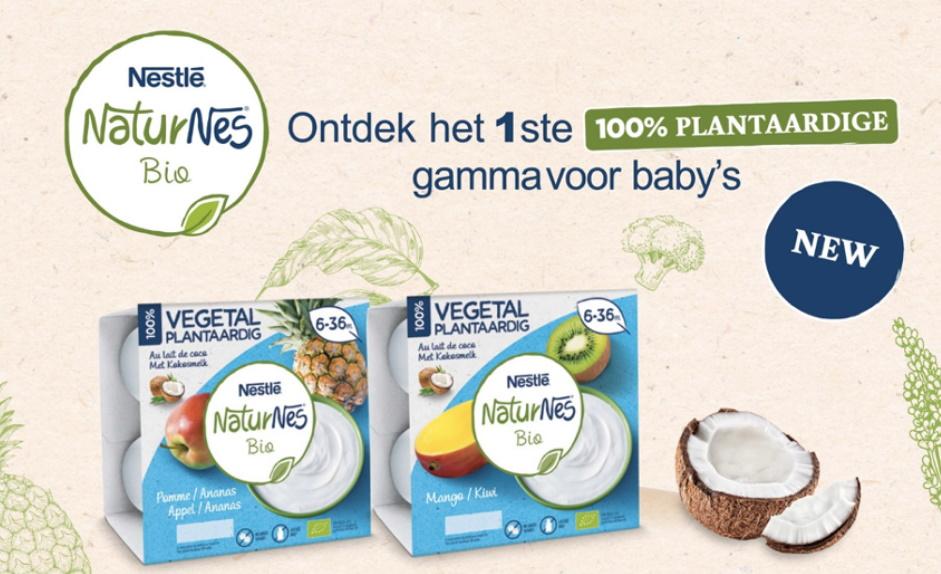 Naturnes bio plantaardig yoghurt voor baby 100% terugbetaald