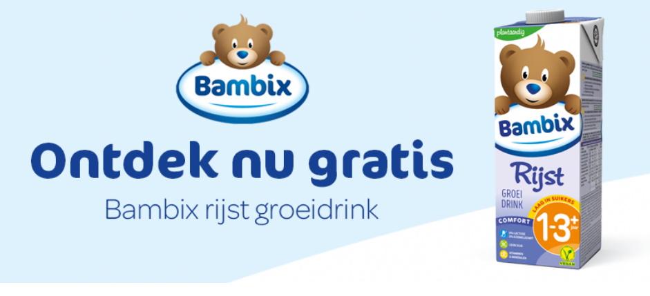 Bambix rijst plantaardige groeimelk 100% terugbetaald