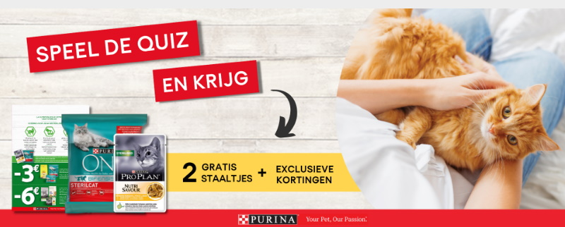 Gratis staal Purina voeding voor gesteriliseerde kat